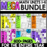 Math Worksheets 1st Grade BUNDLED Print and Go Modules 1-6