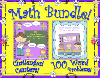 Spring Review MATH BUNDLE WORD PROBLEMS CHALLENGES