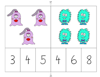 MATH BUSY BAGS: CLOTHESPINS AND MONSTERS (COUNTING ACTIVITY 1-20)
