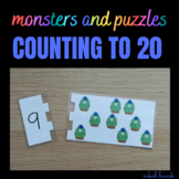 MATH BUSY BAGS: PUZZLES AND MONSTERS (COUNTING ACTIVITY 1-20)