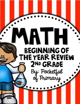 MATH Beginning of the Year Review for 2nd Grade