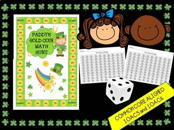 1st Grade Math Center- Fluently add and subtract within 20- St. Paddy's Day