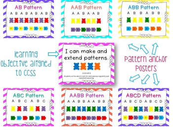 MATH CENTERS BUNDLE:1 2 3, Count with Me! & All About Patterns- {CCSS Aligned}