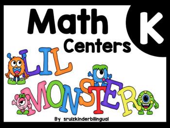 MATH CENTERS ~ Number Sense~ Kindergarten