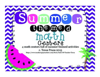 MATH CENTERS: SUMMERTIME