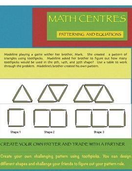 Math Centres Patterns