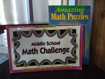 MATH CHALLENGE  MATH PUZZLES    (set of 2)