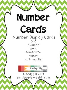 MATH: CHEVRON Number Display Cards