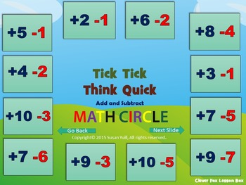 Addition and Subtraction PowerPoint Game