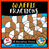 WAFFLE FRACTIONS CLIPART (FOOD) MATH CLIP ART
