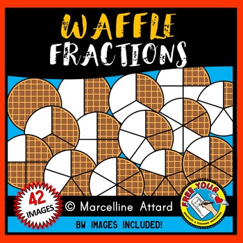 MATH CLIPART: WAFFLE FRACTIONS CLIPART: FOOD FRACTIONS CLIPART