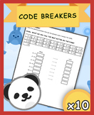 MATH CODE BREAKERS! {FREE}{ADDITION}{CRYPTOGRAPHY}