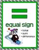 MATH CONCEPTS POSTERS Math Focus Wall Green Panda Theme Classroom Decor