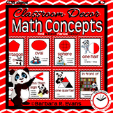 MATH CONCEPTS POSTERS Math Focus Wall Red Panda Theme Classroom Decor