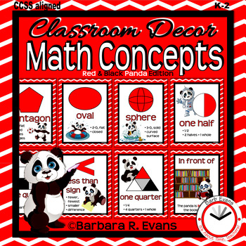 MATH CONCEPTS: Red & Black Edition