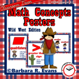 MATH CONCEPTS POSTERS Math Focus Wall Wild West Theme Classroom Decor
