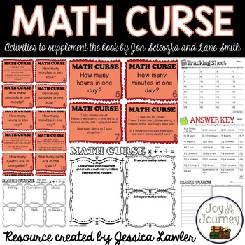 MATH CURSE Task Cards and Activity Packet