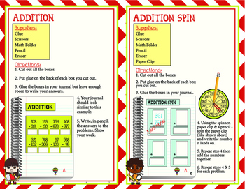 MATH Center Addition Pack
