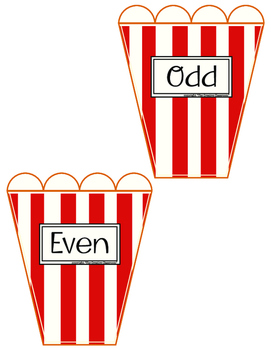 MATH Center Even and Odd Activity/Game/Lesson Pack