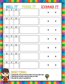 MATH Center Place Value Activity/Game/Lesson Pack