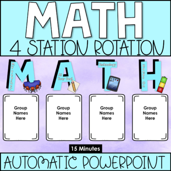 MATH Center Rotation Chart