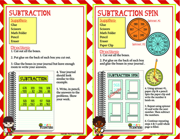 MATH Center Subtraction Pack