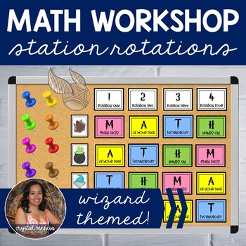 MATH Centers Station Rotations - Wizard Themed