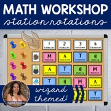MATH Workshop Center Station Rotations - Wizard Themed