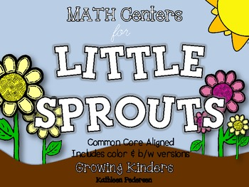 MATH Centers for Little Sprouts {Plants - Common Core Aligned!}