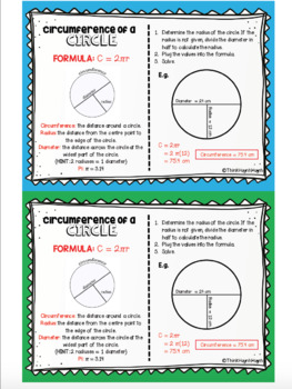 MATH: Circumference of a Circle - Mini Student Visual