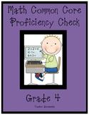 MATH Common Core-4th grade Standards Checklist- Proficienc