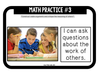 """""""8 math practices""""- kid-friendly questions & statements posters #ringin2018"""
