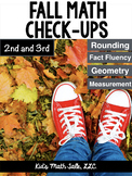 Fall Math check-ups for 2nd and 3rd grade