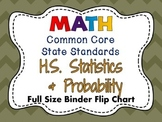 MATH Common Core: HS Statistics & Probability Full Size Binder Flip Chart