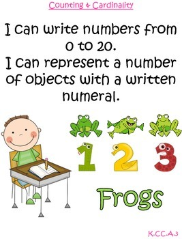 MATH Common Core I can statements Kindergarten