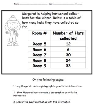 MATH Common Core- Margaret's Graphing Adventure!