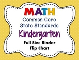 MATH Common Core Standards: Kindergarten Full Size Binder Flip Chart