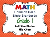 MATH Common Core State Standards: Grade 1 Full Size Binder Flip Chart