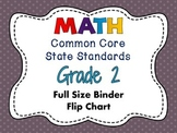 MATH Common Core State Standards: Grade 2 Full Size Binder Flip Chart