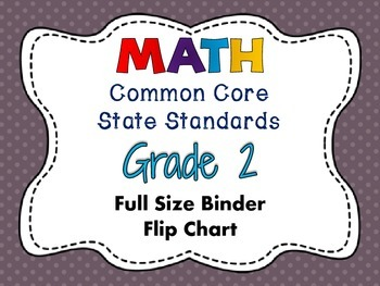 MATH Common Core State Standards: Grade 2 Full Size Binder