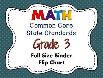 MATH Common Core State Standards: Grade 3 Full Size Binder
