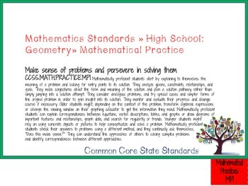 MATH Common Core State Standards: HS Geometry Full Size Binder Flip Chart