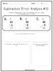 Math Error Analysis-Subtraction Edition
