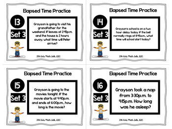 Elapsed Time Word Problems-Common Core