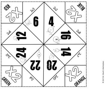 MATH Cootie Catcher/Fortune Teller GROWING BUNDLE- Grades 2-5