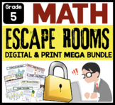 MATH ESCAPE ROOM ACTIVITIES BUNDLE | Distance Learning