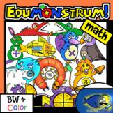 MATH Edumonstrum Original Anime Monsters-30 Pieces BW/Color
