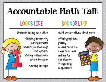 MATH – Encouraging Accountable Talk During Math CCSS Aligned Classroom Resources
