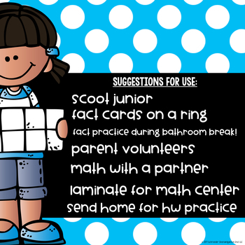 MATH FACT FLUENCY BUNDLE - Addition and Subtraction flashcards