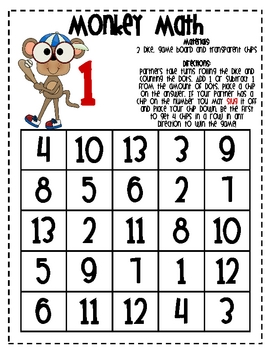 MATH FACTS  - Monkey Math Facts 2